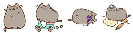 Facebook autocollants chat Pusheen
